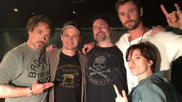 Avengers team after getting inked