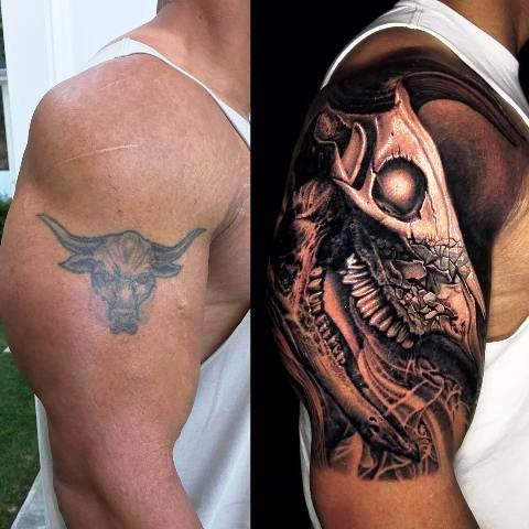 Dwayne Right Arm Tattoo