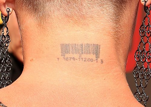 Pink - Barcode tattoo