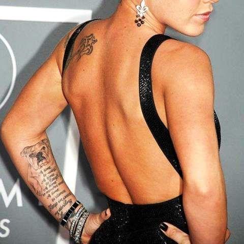 Pink Left Arm Tattoos