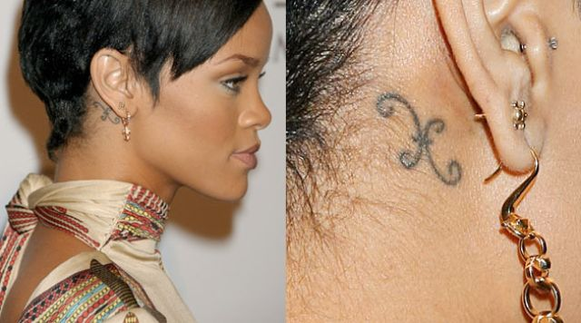 Rihanna tattoos Pisces