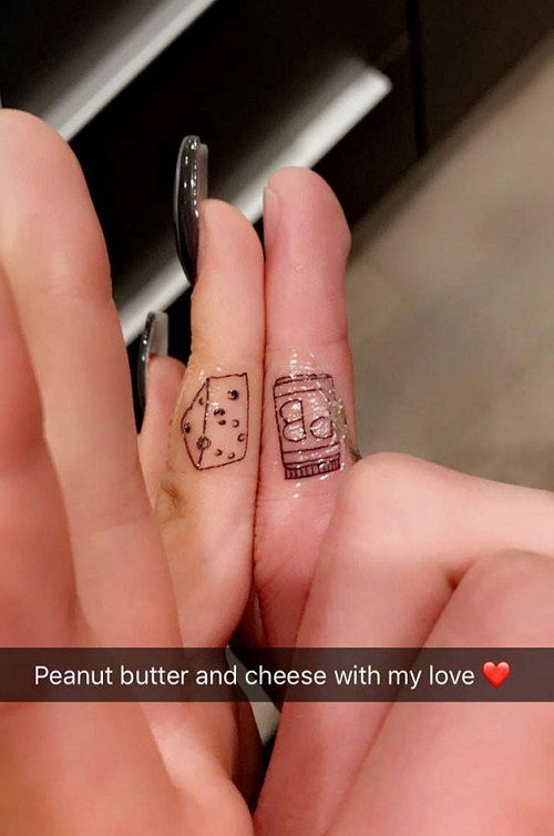 Ariel Winter-Levi Meaden Tattoo- Chhese & Peanut butter
