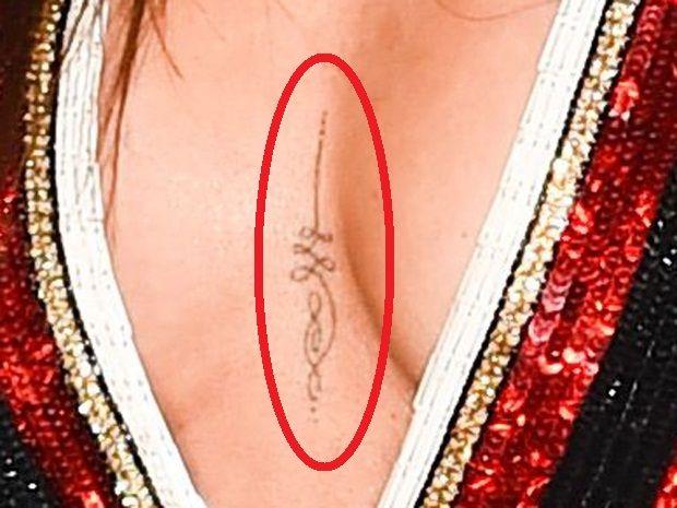 Cheryl Cole - Cleavage Tattoo