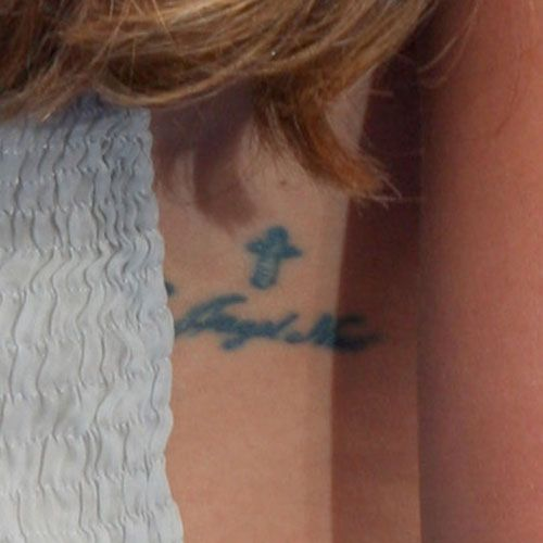 Lea Michele - Cross Tattoo