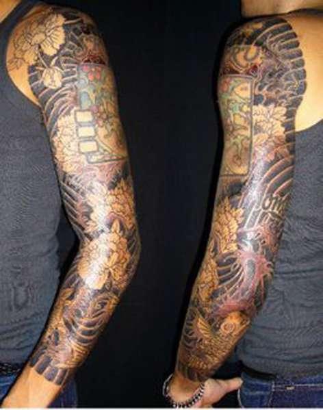 John mayer s 8 tattoos their meanings body art guru for Japanese full arm tattoo