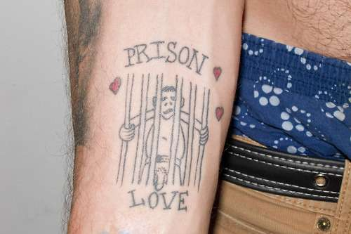 Steve O naked man prison love tattoo