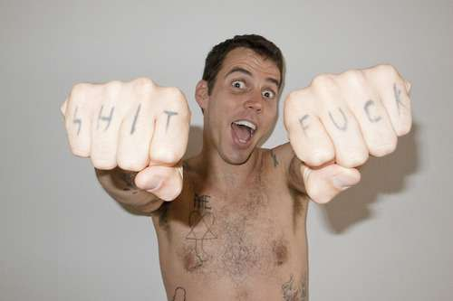 Steve O knuckle tattoos