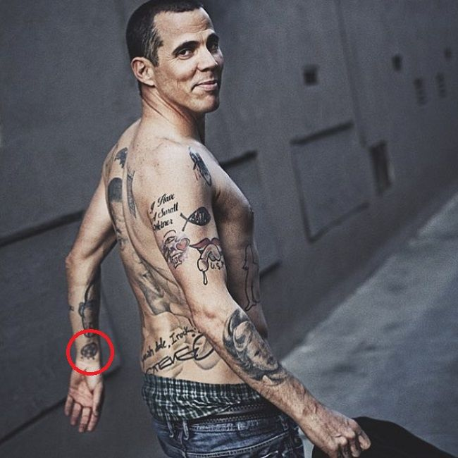 steve-o-red pentagram tattoo