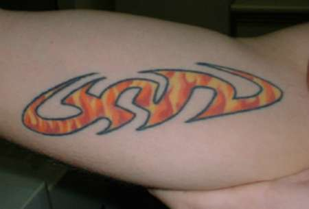 Steve O logo tattoo of xyz