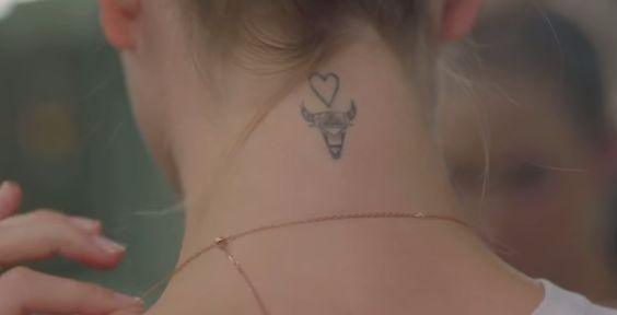 Poppy Delevingne - Taurus tattoo
