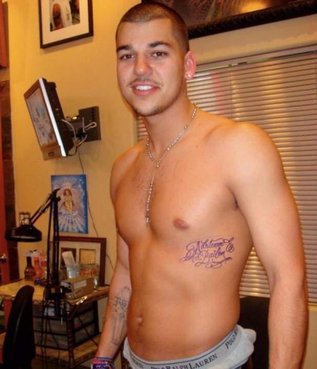 Rob Kardashian - Adrienne Bailon Tattoo