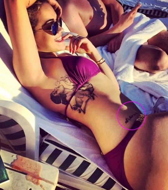 Rita Ora Tattoo - All's fair in love and war