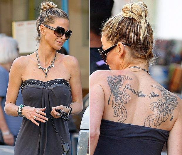 Sarah Harding - Back tattoo
