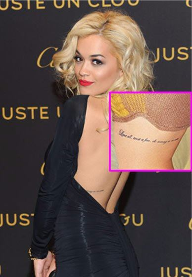 Rita Ora Tattoo - Love all, trust a few, do wrong to none