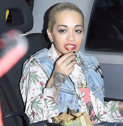 Rita Ora - Rose Tattoo on hand