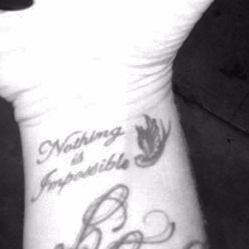 Katie Waissel - wrist tattoo