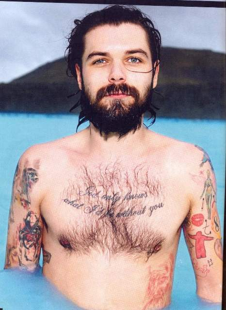 "Simon Neil - ""God Only Knows"" tattoo"