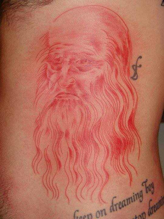 Simon Neil - Red man tattoo