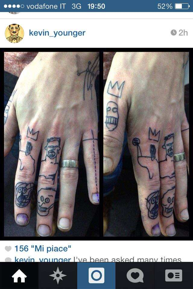 Simon Neil - Finger Tattoos