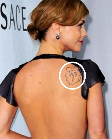 Christina Ricci Back shoulder-tattoo