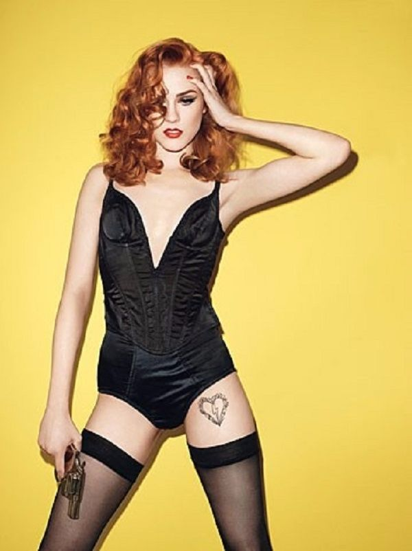 Evan Rachel Wood Thigh Tattoo