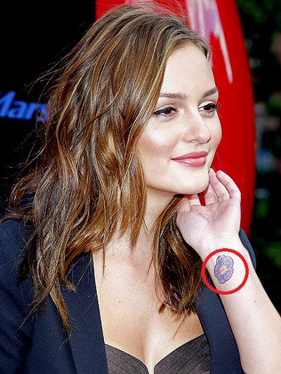 Leighton Meester-wrist tattoo