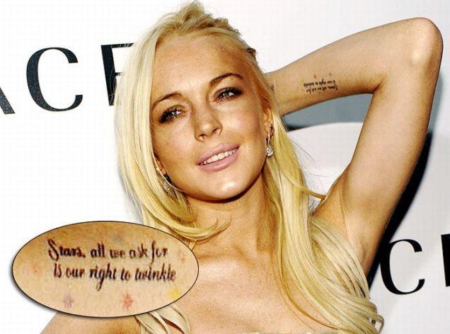 Lindsay Dee Lohan tattoos