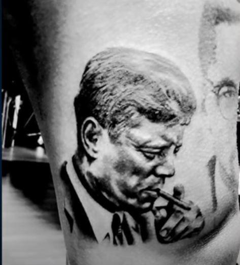 Tim John F Kennedy tattoo
