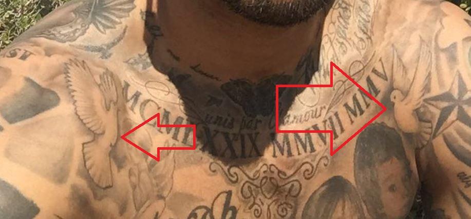 Tim flying dove tattoo