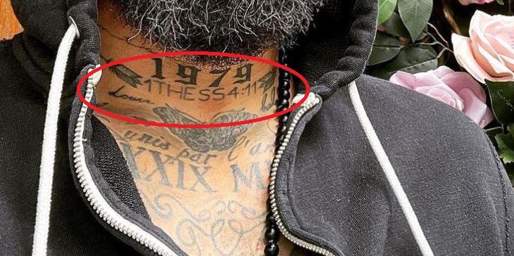 Tim neck tattoo