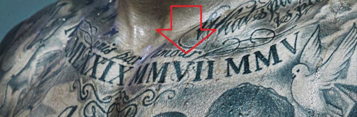 Tim roman numerals tattoo