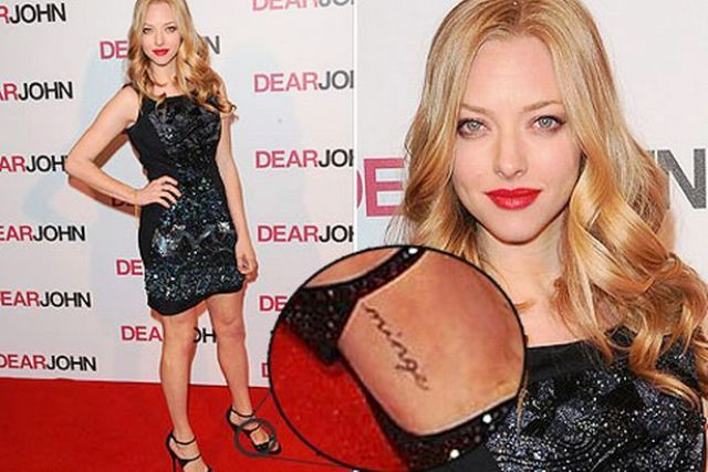 Amanda Seyfried Tattoo