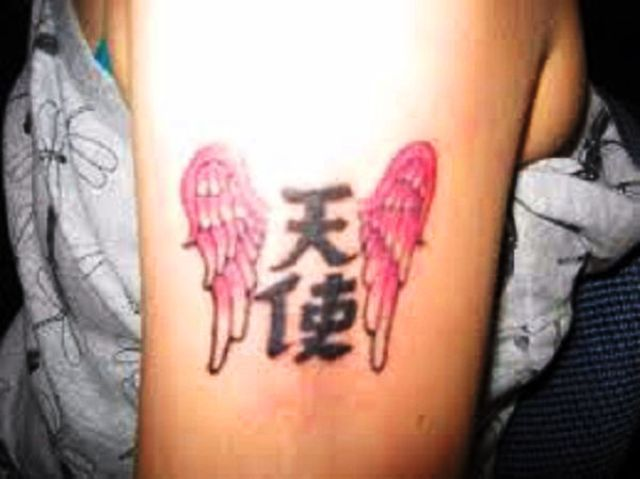 Chinese Angel Tattoo
