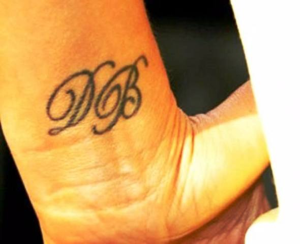David Beckham's Initials Tattoo