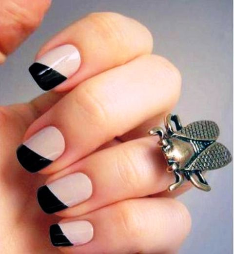 Diagonal Nail Art
