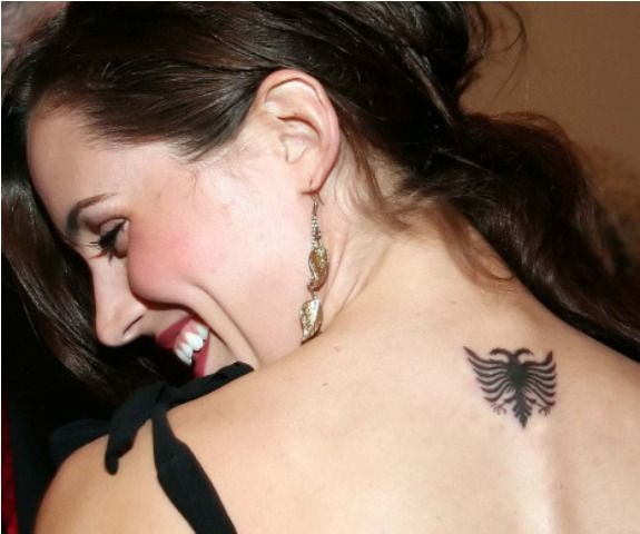 Eliza Dushku Back of her Neck tattoo