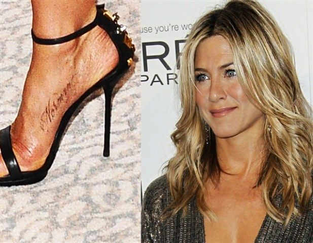 Jennifer Aniston tattoo