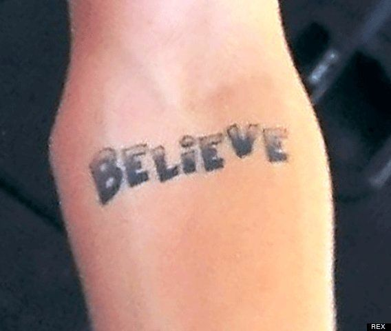 Justin Bieber Believe Tattoo