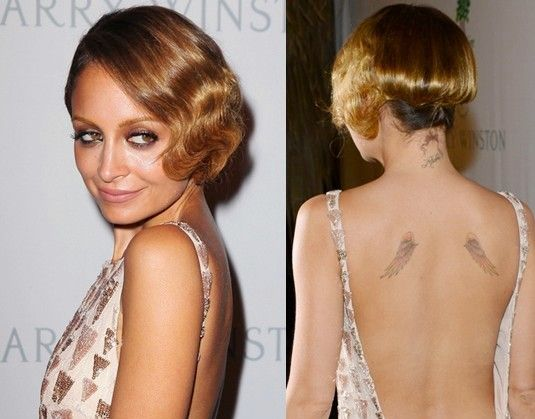 Nicole Richie Back Tattoo