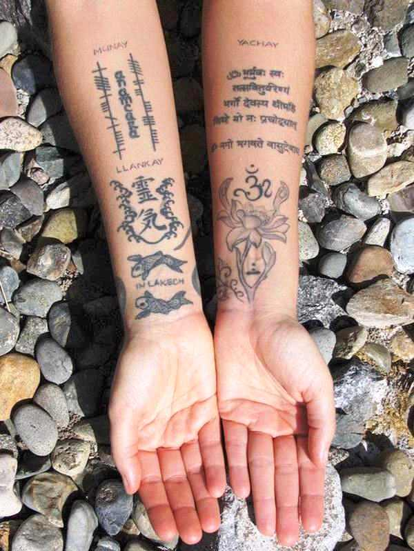 Sanskrit Scriptures Tattoo