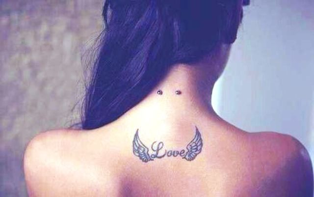 Wings Love Tattoo