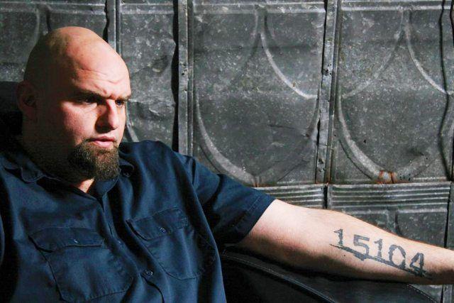 John Fetterman ZIP code tattoo