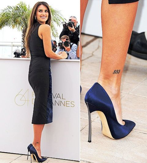 Penélope Cruz Ankle Tattoo