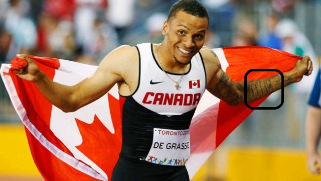 Andre De Grasse Prayer Tattoo