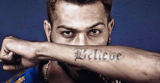 Hardik Pandya Believe Tattoo
