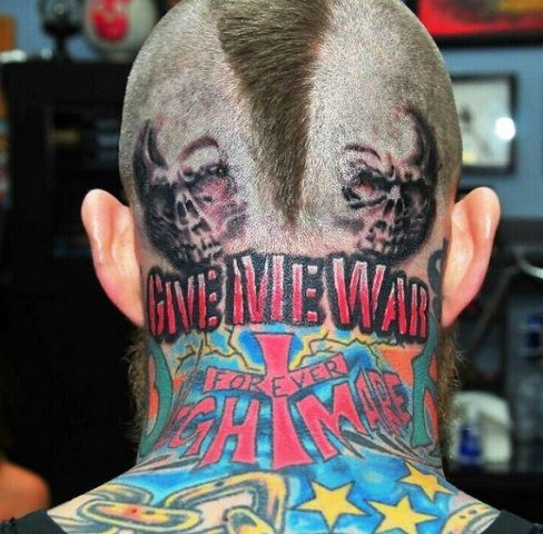 Chris Andersen Give Me War Tattoo