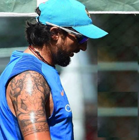 Ishant Sharma Religious Tattoo