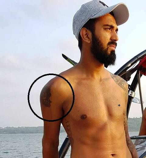 KL Rahul Shoulder Tattoo