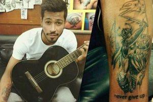 Hardik Pandya Right Arm Tattoo
