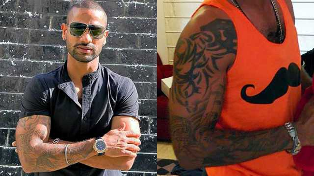 Shikhar Dhawan Right Arm Tattoo